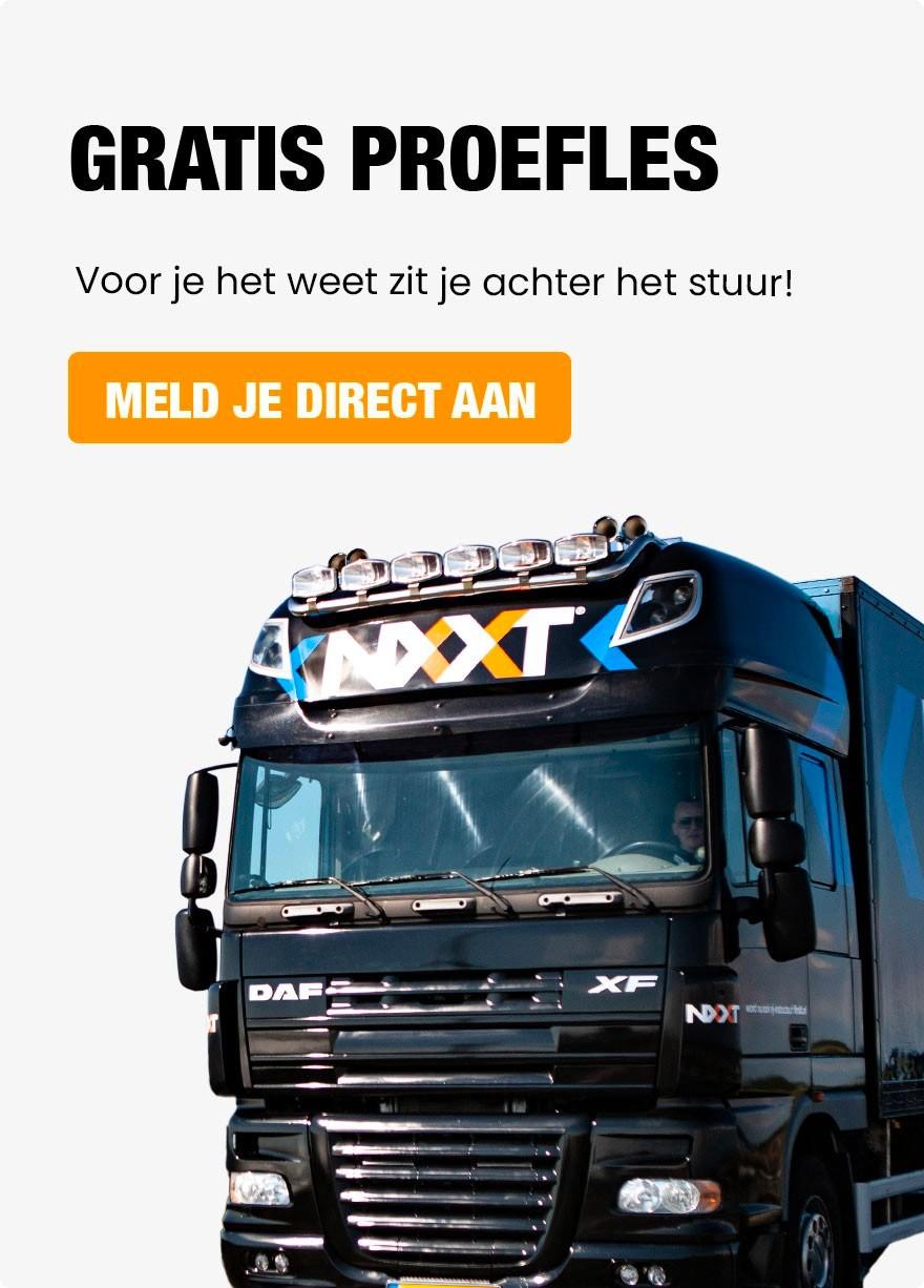 Gratis proefles vrachtwagen